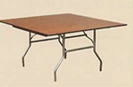 5' x 5' Square Table at Dining Height