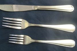 Dinner Knife, Dinner Fork, Dessert/Salad Fork