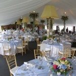 Elegantly Decorated Century Tent with Interior Liner