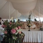 Century Tent with Buffet Tables Topped & Skirted