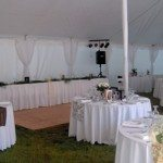 30 x 60 Conventional Interior with Side & Center Pole Drapes