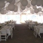 30 x 60 Frame Tent with Square Tables
