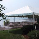 20 x 60 Frame Tent - Beach Wedding