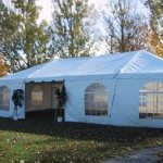 20 x 40 Frame Tent Complete with French Window Walls
