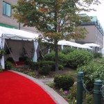 Walkway Tent with Liner and Side Pole Drapes