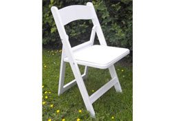 White Resin Chair with padded seat