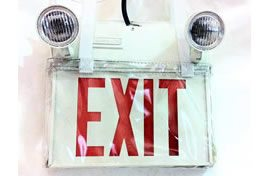 Emergency Exit Sign/Light Combination