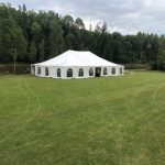 Conventional pole tent exterior