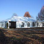 Frame tent exterior
